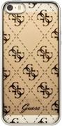 Чехол-накладка Guess для iPhone SE/5S 4G TRANSPARENT Hard TPU Silver (Цвет: Серый)