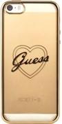Чехол-накладка Guess для iPhone SE/5S SIGNATURE HEART Hard TPU Gold (Цвет: Золотой)