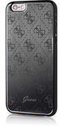 Чехол Guess для iPhone 6S 4G ALUMINIUM PLATE Hard Black (Цвет: Чёрный)