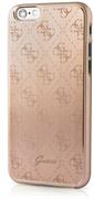 Чехол Guess для iPhone 6S 4G ALUMINIUM PLATE Hard Gold (Цвет: Золотой)