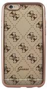 Чехол-накладка Guess для iPhone 6S 4G TRANSPARENT Hard TPU Rose gold (Цвет: Розовое золото)