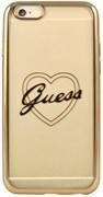 Чехол-накладка Guess для iPhone 6/6S SIGNATURE HEART Hard TPU Gold (Цвет: Золотой)