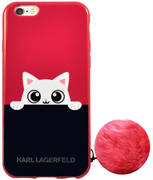 Чехол-накладка Lagerfeld для iPhone 6/6S K-Peek A Boo Hard TPU Navy/Pink (Цвет: Синий/Розовый)