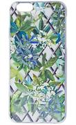 Чехол-накладка Lacroix для iPhone 6/6S CANOPY Malachite (Цвет: Белый с цветами)