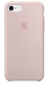 Оригинальный силиконовый чехол-накладка Apple для iPhone 7/8, цвет «розовый песок»  (MMX12ZM/A)