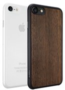 Набор из двух чехлов-накладок Ozaki Jelly и Ozaki Wood для iPhone 7/8 (Цвет: Прозрачный и Тёмно-коричневый)