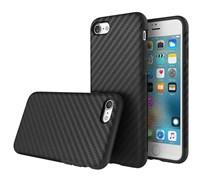 Чехол-накладка Rock Origin Series (Textured) карбон для iPhone 7/8 (Цвет: Чёрный)