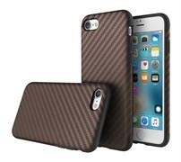Чехол-накладка Rock Origin Series (Textured) карбон для iPhone 7/8 (Цвет: Коричневый)
