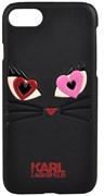 Чехол-накладка Lagerfeld iPhone 7/8 Choupette in love 2 Hard PU, цвет «черный» (KLHCP7CL2BK)