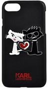 Чехол-накладка Lagerfeld iPhone 7/8 Choupette in love  Hard PU, цвет «черный» (KLHCP7CL1BK)
