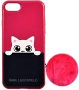 Чехол-накладка Lagerfeld iPhone 7/8 K-Peek A Boo Hard TPU, цвет «розовый» (KLHCP7PABPI)