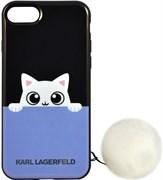 Чехол-накладка Lagerfeld iPhone 7/8 K-Peek A Boo Hard TPU, цвет «черный» (KLHCP7PABBL)