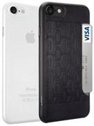 Набор из двух чехлов-накладок Ozaki Jelly и Ozaki Pocket для iPhone 7/8  «Цвет: Jelly прозрачный/Pocket черный» (OC722KC)