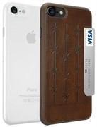 Набор из двух чехлов-накладок Ozaki Jelly и Ozaki Pocket для iPhone 7/8  «Цвет: Jelly прозрачный/Pocket коричневый» (OC722BC)