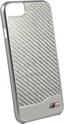Чехол-накладка BMW для iPhone 7/8 M-Collection Aluminium&Carbon Hard Silver, цвет «серебряный» (BMHCP7MDCS)