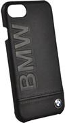 "Чехол-накладка BMW для iPhone 7/8 Signature Logo imprint Hard кожа, цвет ""черный""  (BMHCP7LLSB)"