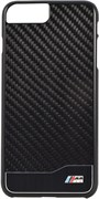 Чехол-накладка BMW для iPhone 7 Plus/8 Plus  M-Collection Aluminium&Carbon Hard, Цвет «Черный» (BMHCP7LMDCB)