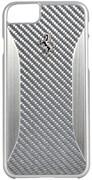 Чехол-накладка Ferrari для iPhone 7/8 GT Experience Hard Carbon-Aluminium Silver, Цвет «Серебряный» (FERCHCP7SI)