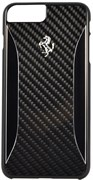 Чехол-накладка Ferrari для iPhone 7 Plus/8 Plus  GT Experience Hard Carbon-Aluminium , Цвет «Черный» (FERCHCP7LBK)