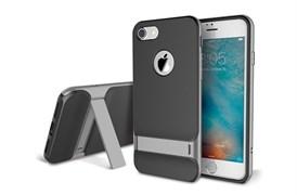 Чехол-накладка Rock Royce Series (Kickstand) с подставкой для Apple iPhone 7/8 (Цвет: Серый)