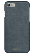 Чехол-накладка Moodz для iPhone 7/8 Alcantra Hard Steel Цвет: Серый (MZ656067)