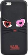 Чехол-накладка Karl Lagerfeld для iPhone 6/6s Choupette, (Цвет: Чёрный)