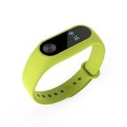 Ремешок силиконовый для фитнес трекера Xiaomi Mi Band 2 (Цвет: Зелёный)