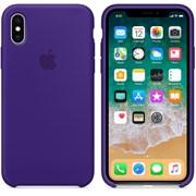 Оригинальный силиконовый чехол-накладка Apple для iPhone X, цвет «Ультрафиолет»  (MQT72ZM/A)