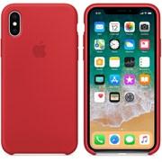 Оригинальный силиконовый чехол-накладка Apple для iPhone X, цвет красный  (MQT52ZM/A)