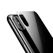 """Заднее защитное закаленное стекло для Apple iPhone X, цвет """"черный"""""""