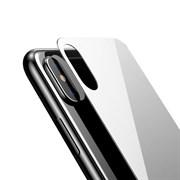 """Заднее защитное закаленное стекло для Apple iPhone X, цвет """"белый"""""""