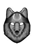 Крутая светодиодная маска с датчиком звука GeekMask Shadow Wolf  (GM-WLF)