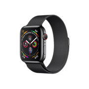 "Apple Watch Series 4 44mm GPS + Cellular ""Space Grey"" стальной корпус + Milanese Loop"