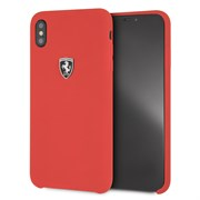 "Чехол-Накладка Ferrari iPhone XS Max Heritage W Hard Leather ""Red"" (FEHDEHCI65RE)"