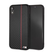 "Чехол-Накладка BMW iPhone XR M-Collection Carbon inspiration Hard PU, ""Red"" (BMHCI61CAPRBK)"