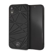 "Чехол-Накладка Mercedes iPhone XR Twister Hard Leather, ""Black"" (MEPERHCI61QGLBK)"