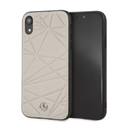 "Чехол-Накладка Mercedes iPhone XR Twister Hard Leather, ""Grey"" (MEPERHCI61QGLGR)"