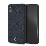 "Чехол-Накладка Mercedes iPhone XR Twister Hard Leather, ""Blue"" (MEPERHCI61QGLNA)"