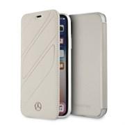 "Чехол-Книжка Mercedes iPhone X/XS New Organic I Booktype Leather, ""Crystal grey"" (MEFLBKPXTHLGR)"