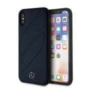 "Чехол-Накладка Mercedes iPhone X/XS New Organic I Hard Leather, ""Blue Abyss"" (MEHCPXTHLNA)"