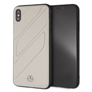 "Чехол-Накладка Mercedes iPhone XS Max New Organic I Hard Leather, ""Grey"" (MEHCI65THLGR)"