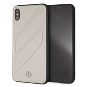 """Чехол-Накладка Mercedes iPhone XS Max New Organic I Hard Leather, """"Grey"""" (MEHCI65THLGR)"""