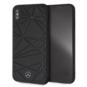 "Чехол-Накладка Mercedes iPhone XS Max Twister Hard Leather, ""Black"" (MEPERHCI65QGLBK)"