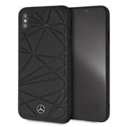 "Чехол-Накладка Mercedes iPhone XS Max Twister Hard Leather, ""Black"" (MEPERHCI65QGLBK)"