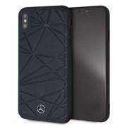 "Чехол-Накладка Mercedes iPhone XS Max Twister Hard Leather, ""Blue"" (MEPERHCI65QGLNA)"