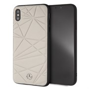 "Чехол-Накладка Mercedes iPhone XS Max Twister Hard Leather, ""Grey"" (MEPERHCI65QGLGR)"