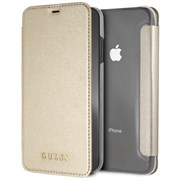 "Чехол-Книжка Guess iPhone XS Max Iridescent Booktype, ""Gold"" (GUFLBKI65IGLTGO)"