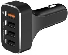 Автомобильное зарядное устройство LAB.C 4Port Quick Car Charger. 4 USB разьема. Цвет: черный