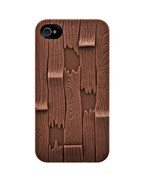 Чехол Luxury Elegant 3D Sculptural Series Cover Plank Brown для iPhone 4 / 4s