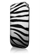 Кожаный чехол More Safara Classic Zebra/Black для iPhone 4